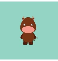 Cute Cartoon bull vector