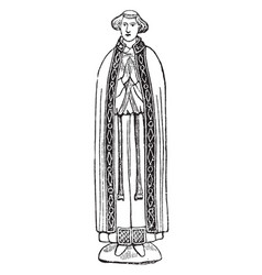 Ecclesiastical vestment vintage engraving vector