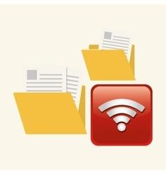 File design social media icon online concept vector