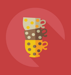 Flat modern design with shadow icons cup vector