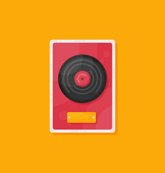 flat vinyl disk icon isolated on color background vector image