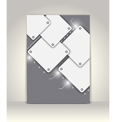 Flyer or brochure template abstract design vector image