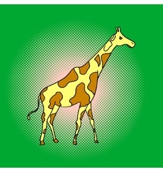 Giraffe pop art vector image