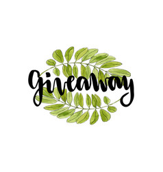 Giveaway icon for social media contests hand vector