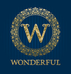 Golden logo template for wonderful boutique vector