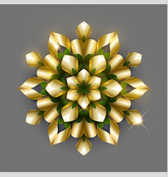 golden luxury background gold snowflake vector image