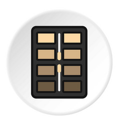 Great palette eye shadow icon circle vector