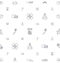 Healthcare icons pattern seamless white background vector