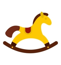 Horse toy icon flat style vector