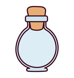 Jar glass with cork empty icon vector