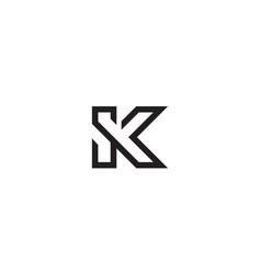 letter s and k logo design concept vector image