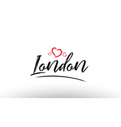 London europe european city name love heart vector