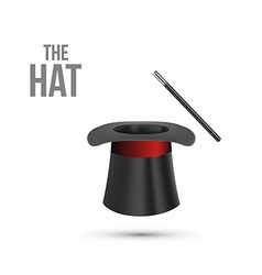 Magician top hat with stick vector