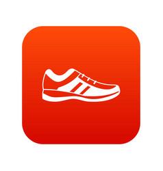 Men sneakers icon digital red vector