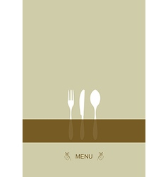 Menu design for restaurant vector image