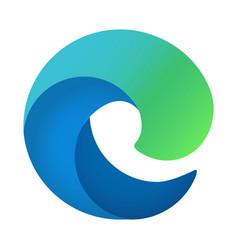 microsoft edge new logo icon isolated on white vector image