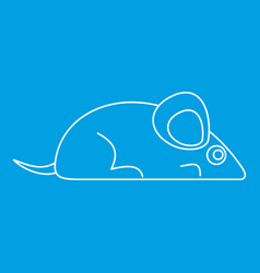 mouse icon outline style vector image