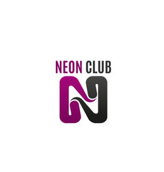 neon club icon vector image