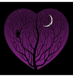 night in heart vector image
