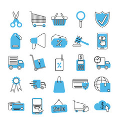 online shopping mobile marketing and e-commerce vector image