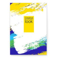 poster stylish geometric background vector image