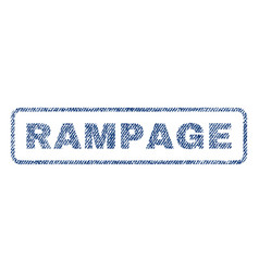 rampage textile stamp vector image