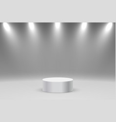 realistic platform or podium vector image