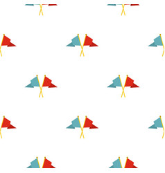 Red and blue flags pattern flat vector