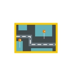 Road map icon flat style vector image