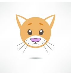 Sad cat vector image