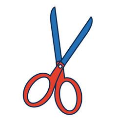 School scissors tool handle object vector