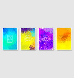 set colorful abstract background modern style vector image