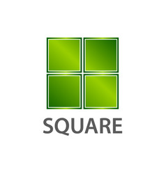shiny green square logo concept design symbol vector image