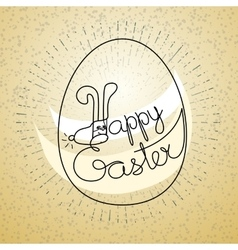 Silhouette eggs and words Happy Easter vector image