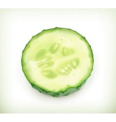 Slice cucumber vector