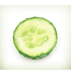 Slice of cucumber vector image