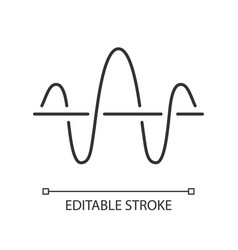 Soundwave linear icon thin line function and vector