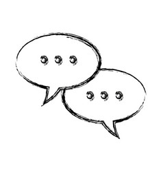 Speech bubbles and dialog balloons chat message vector