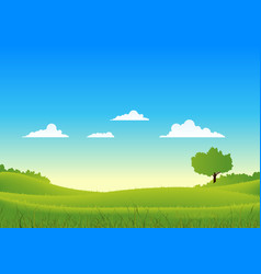 spring and summer country landscape vector image