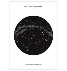 star map constellations vector image