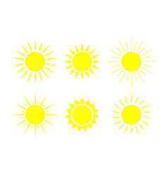 sun icons sunshine graphic shapes symbol of vector image