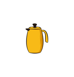 teapot logo icon vector image