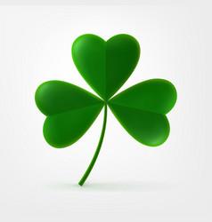 Three-leaf shamrock clover icon vector