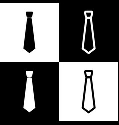 tie sign black and white vector image