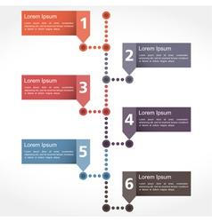 Timeline design vector