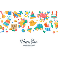 toy set for babies banner card vector image