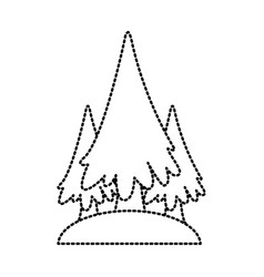 trees pines symbol vector image