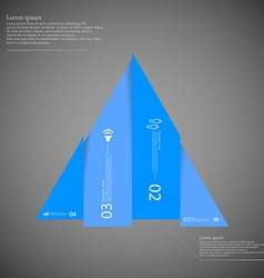 Triangle infographic template vertically divided vector