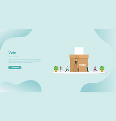 Vote or voting box concept for website template vector