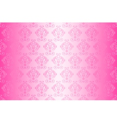 Wallpaper vintage pattern pink wide vector